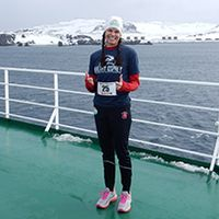 Four continents down, three to go for marathoner Lucy Croft