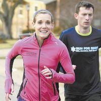 Area pair set long-distance goals in marathon challenges